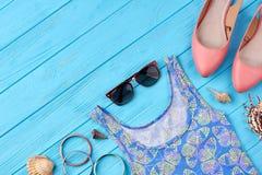 Fond d'été de mode Photos libres de droits