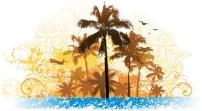 Fond d'été de palmier illustration stock