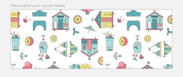 Fond d'été pour le media social Image stock