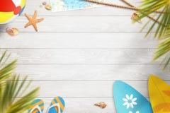 Fond d'été Vue supérieure avec l'espace libre pour le texte Photos libres de droits