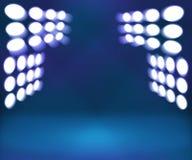 Fond d'étape bleu de pièce de projecteur Photos libres de droits