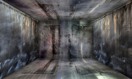 Fond d'étape métallique urbain abstrait grunge de pièce Photos stock