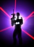 Fond d'étiquette de laser Images libres de droits