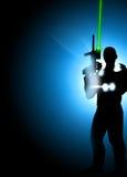 Fond d'étiquette de laser Photo libre de droits