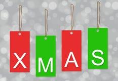 Fond d'étiquette de Noël Images libres de droits
