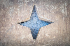 Fond d'étoile bleue de ciment Image libre de droits