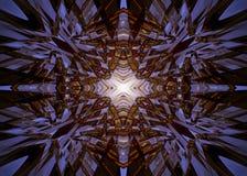 Fond d'étoile de kaléidoscope d'or Photos stock