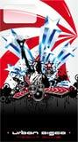 Fond d'événement de musique des Etats-Unis Images libres de droits