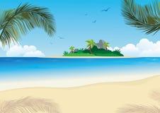 Fond d'île Images libres de droits