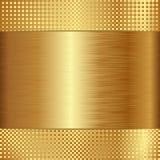 Fond d'or Photo libre de droits
