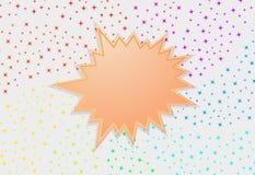 Fond d'abrégé sur étoile d'éclaboussure de Starburst photo stock