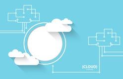 Fond d'abrégé sur affaires de technologie de nuage de Web illustration stock