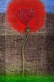 Fond d'abrégé sur amour de coeur de fleur Images libres de droits