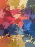 Fond d'abrégé sur brosse de couleur en pastel de variété Photo libre de droits