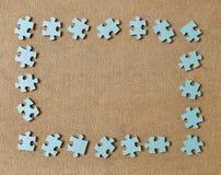 Fond d'abrégé sur cadre de trame de puzzle vieux Photo libre de droits