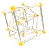 Fond d'abrégé sur composition en cadre de carcasse de cube Photos libres de droits