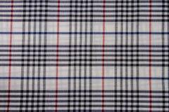 Fond d'abrégé sur coton de plaid de tissu Images libres de droits
