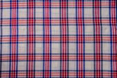 Fond d'abrégé sur coton de plaid de tissu Image libre de droits
