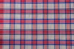 Fond d'abrégé sur coton de plaid de tissu Images stock