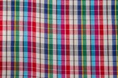 Fond d'abrégé sur coton de plaid de tissu Photo stock
