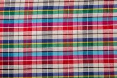 Fond d'abrégé sur coton de plaid de tissu Image stock