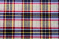 Fond d'abrégé sur coton de plaid de tissu Photos libres de droits