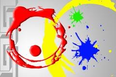 Fond d'abrégé sur couleur de cercle illustration de vecteur