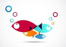 Fond d'abrégé sur icône de poissons Image libre de droits