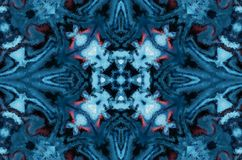 Fond d'abrégé sur imagination d'hiver Ornement géométrique kaléïdoscopique Modèle de mosaïque polygonal décoratif illustration stock