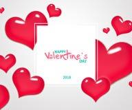 Fond d'abrégé sur jour du ` s de Valentine avec le coeur Illustration de vecteur Photo stock
