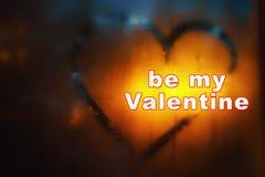 Fond d'abrégé sur jour du ` s de Valentine L'inscription sur le swea Image stock