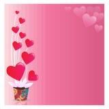 Fond d'abrégé sur le jour de Valentine Images stock