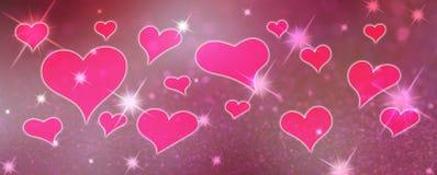 Fond d'abrégé sur le jour de Valentine avec des coeurs illustration de vecteur