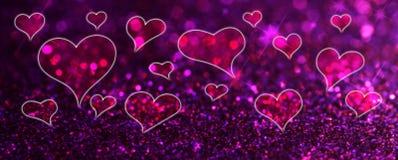 Fond d'abrégé sur le jour de Valentine avec des coeurs illustration libre de droits