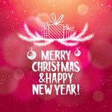 Fond d'abrégé sur Noël et nouvelle année avec illustration libre de droits