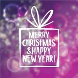 Fond d'abrégé sur Noël et nouvelle année avec illustration stock
