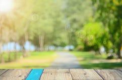 Fond d'abrégé sur parc de vert de nature de tache floue Photos libres de droits