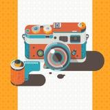 Fond d'abrégé sur photographie de vintage d'appareil-photo Photos stock