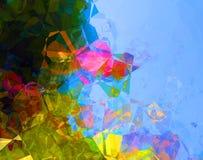 Fond d'abrégé sur polygone de vert bleu Images libres de droits