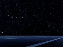 Fond d'abrégé sur route de nuit Photographie stock libre de droits