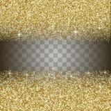 Fond d'abrégé sur scintillement d'or Image libre de droits