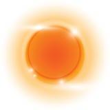 Fond d'abrégé sur vecteur de cercle d'orange chaud de conception Photos stock