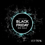Fond d'abrégé sur vente de Black Friday Style futuriste de technologie Grandes données Conception avec le plexus Photo libre de droits