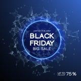 Fond d'abrégé sur vente de Black Friday Style futuriste de technologie Grandes données Conception avec le plexus Photographie stock