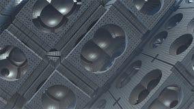 fond d'abrégé sur l'imagination 3D des formes étranges Photo stock