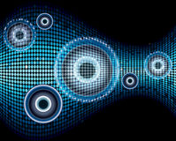 Fond d'abrégé sur onde sonore de musique Images stock