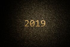 Fond 2019 d'or abstrait photo stock