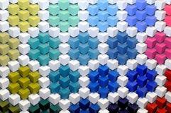 Fond 3D abstrait des cubes multicolores Images libres de droits