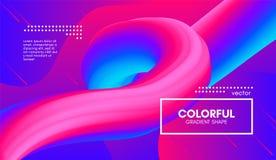 Fond 3d abstrait Forme colorée de fluide de vague illustration libre de droits