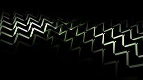 Fond 3D abstrait géométrique vert Photo stock